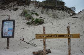 Niebieski szlak do latarni morskiej - Czołpino [Wejścia na plażę]