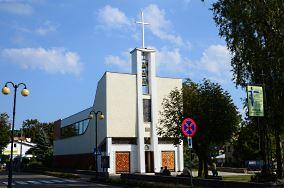 """Kościół rzym-kat. pw. św. Józefa Oblub. NMP  - ul. Kościelna 29 - Dziwnów [Kościoły i kaplice]<br><a href=""""?s=nadmorskie-poi&o=we&id_kat=25&id_m=29&id=1541"""">pokaż szczegóły punktu...</a>"""